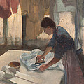 Woman Ironing Print by Edgar Degas