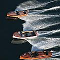 Wooden Boat Aerial Print by Steven Lapkin