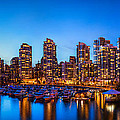 Yaletown from Cambie Bridge Print by Alexis Birkill