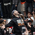 2012 San Francisco Giants World Series Champions Parade - Marco Scutaro - DPP0008 Poster by Wingsdomain Art and Photography