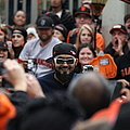 2012 San Francisco Giants World Series Champions Parade - Sergio Romo - DPP0007 Print by Wingsdomain Art and Photography