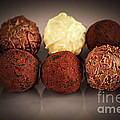 Chocolate truffles by Elena Elisseeva
