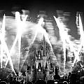 Disney castle at night Poster by Fizzy Image