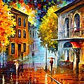 ETUDE IN RED Poster by Leonid Afremov