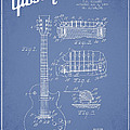 Mccarty Gibson Les Paul guitar patent Drawing from 1955 - Light Blue Print by Aged Pixel