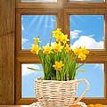 Spring Window Poster by Christopher and Amanda Elwell