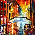 THE CANALS OF VENICE Poster by Leonid Afremov