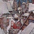 'The Night Before Christmas Print by Arthur Rackham