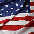 USA flag Print by Les Cunliffe