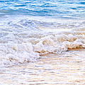Waves breaking on tropical shore Print by Elena Elisseeva