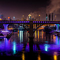 35W Bridge in Vikings Purple Poster by Mark Goodman