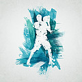 Basketball Player Print by Aged Pixel