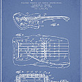 Fender Floating Tremolo patent Drawing from 1961 - Light Blue Print by Aged Pixel