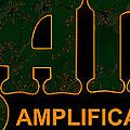 Orange Amplification Outline Only Poster by Alexei Biryukoff