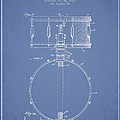 Snare Drum Patent Drawing from 1939 - Light Blue Print by Aged Pixel