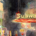 42nd Street Subway Watercolor Painting of NYC Poster by Beverly Brown Prints