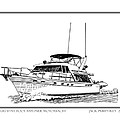 45 foot Bayliner Motoryacht Print by Jack Pumphrey