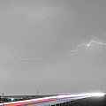 47 Street Lightning Storm Light Trails View Panorama Print by James BO  Insogna