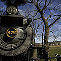 #475 Steam Engine on the Strasburg RR 04 Poster by Mark Serfass