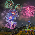4th of July in Houston Texas Print by Micah Goff