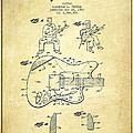 Fender guitar patent Drawing from 1960 Print by Aged Pixel