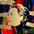 Hillary Clinton Gold Series Print by Marvin Blaine