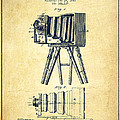 Photographic Camera Patent Drawing from 1885 Print by Aged Pixel