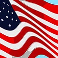 50 Star American Flag Closeup Abstract 9 Print by L Brown