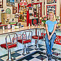 50s American style Soda Fountain Print by David Smith