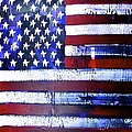 9-11 Flag Print by Richard Sean  Manning