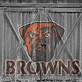 CLEVELAND BROWNS Print by Joe Hamilton
