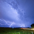 95th and Woodland Lightning Thunderstorm View Print by James BO  Insogna