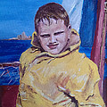 A Boy on a Boat Print by Jack Skinner