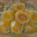 A Bunch Of Yellow Roses Print by Susan Candelario