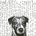 A CONVERSATION WITH A jack russell terrier Print by Salvadore Delvisco