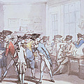 A French Coffee House Print by Thomas Rowlandson
