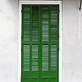A green door in New Orleans Print by Christine Till