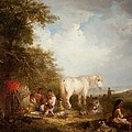 A Gypsy Scene Print by Edward Robert Smythe