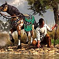 A Hunter and His Horse Poster by Daniel Eskridge