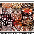 A Menagerie of Colorful Quilts -  Autumn Colors - Quilter Print by Barbara Griffin