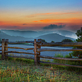 A New Beginning - Blue Ridge Parkway Sunrise I Poster by Dan Carmichael