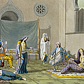 A Persian Harem, From Le Costume Ancien Print by G. Bramati