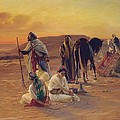 A Rest in the Desert Poster by Otto Pilny