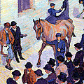 A Sale At Tattersalls, 1911 Poster by Robert Polhill Bevan