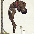 A Slave Hung Alive by the Ribs to a Gallows Print by John Gabriel Stedman