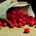 A Spilled Bag of Cherries Print by Antoine Vollon
