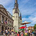 A Sunny Afternoon in Jackson Square oil Print by Steve Harrington