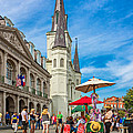 A Sunny Afternoon in Jackson Square Print by Steve Harrington