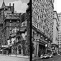 A Tail of Two Cities - South Broad Then and Now Print by Bill Cannon