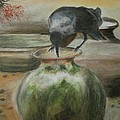 A Thirsty Crow Print by PRASENJIT DHAR